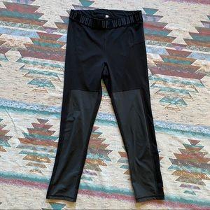 LUCY S (estimate) black grey leggings woman up
